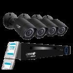 KIT DVR 1080P CON 4 CANALES Y 4 CAMARAS BULLET 2MP LX4D1R-4X2BBBR